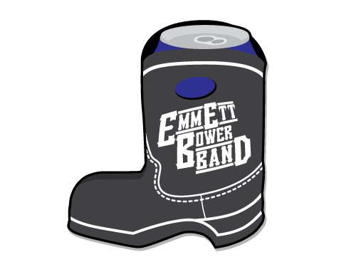 Emmett Bower Band Boot Koozie